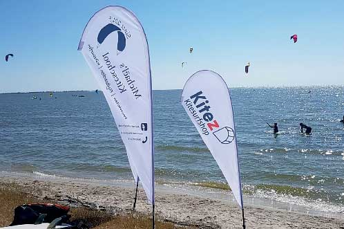 de haas beachflags